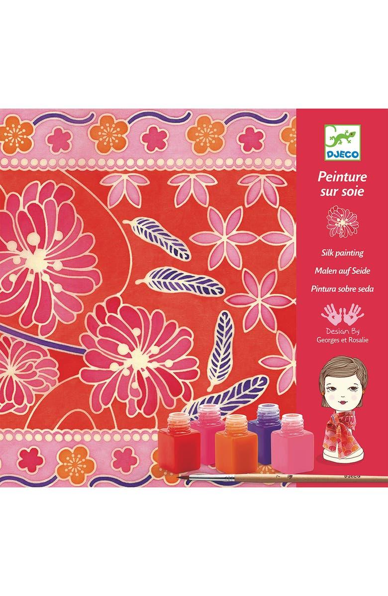 DJECO Le Grand Artist Silk Scarf Painting Kit, Main, color, MULTI