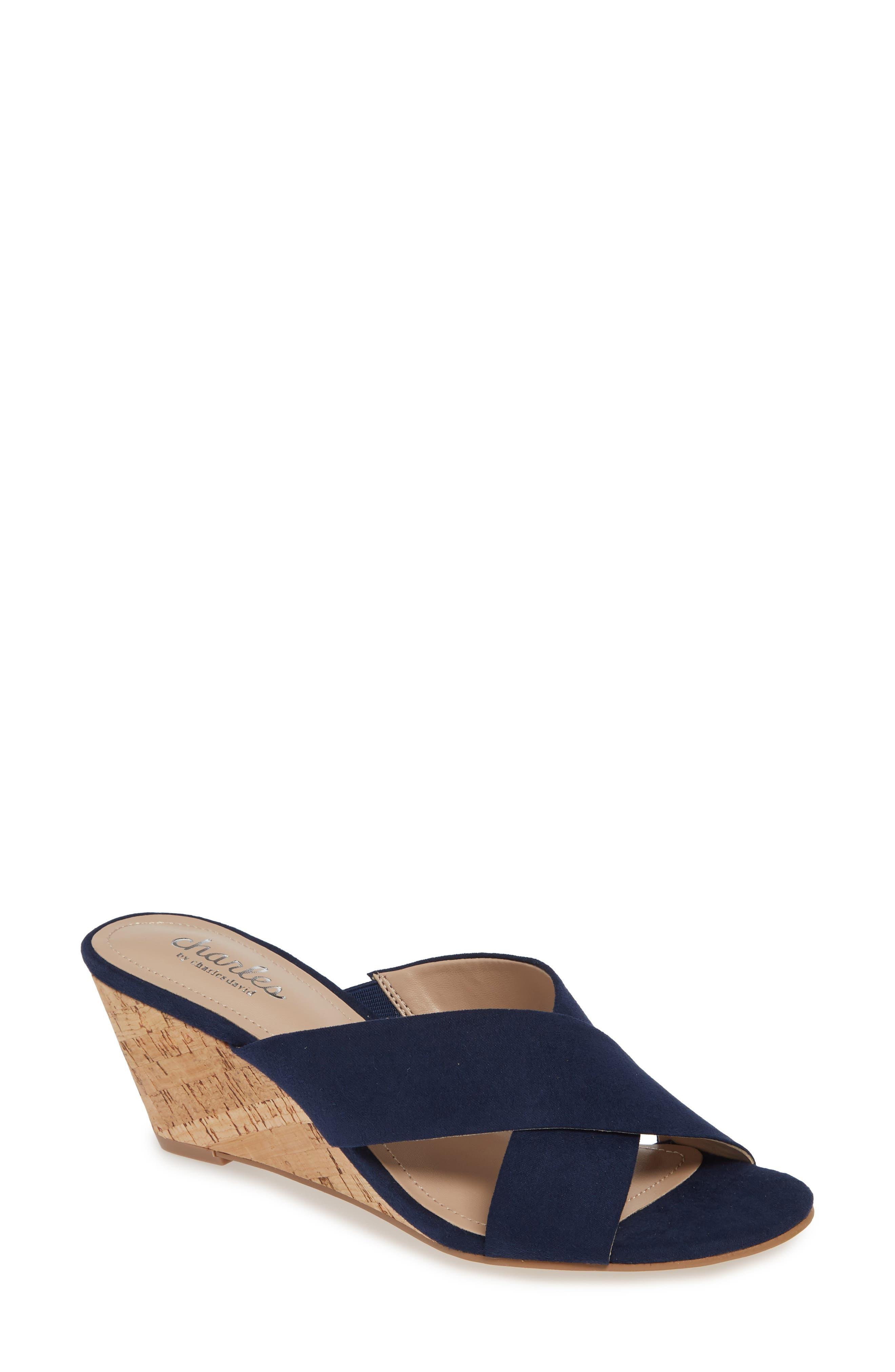 Charles By Charles David Grady Slide Sandal, Blue