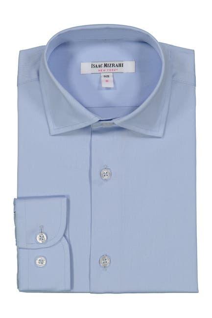Image of Isaac Mizrahi Solid Dress Shirt