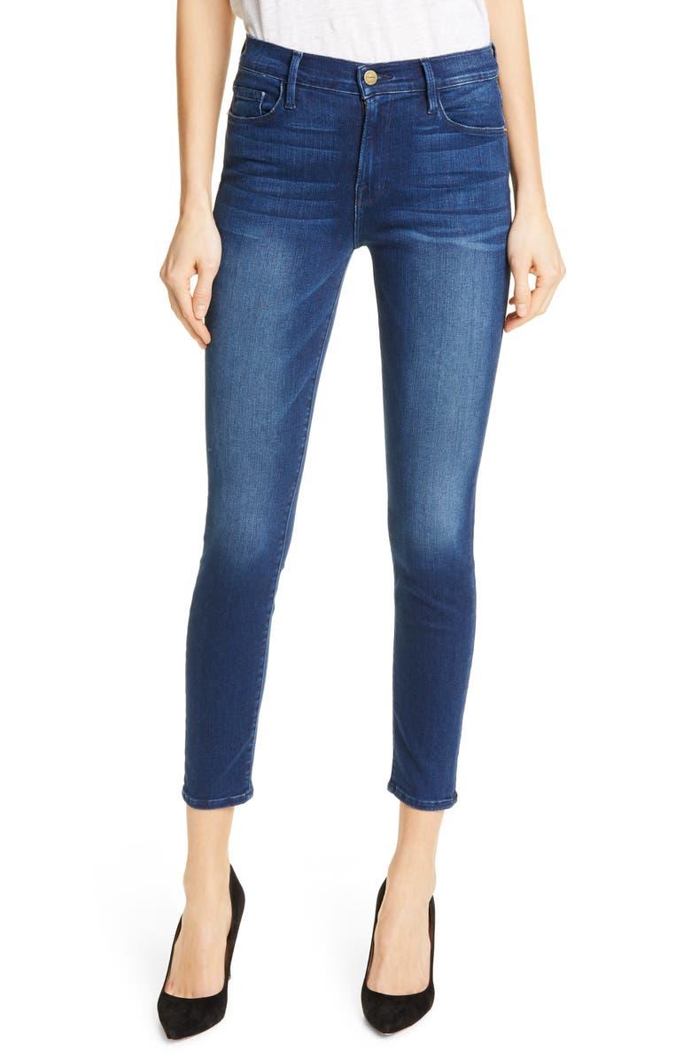 FRAME Le Skinny de Jeanne Crop Jeans, Main, color, 402