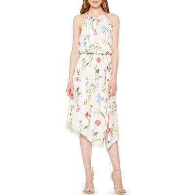 Parker Herley Floral Silk Dress, Green