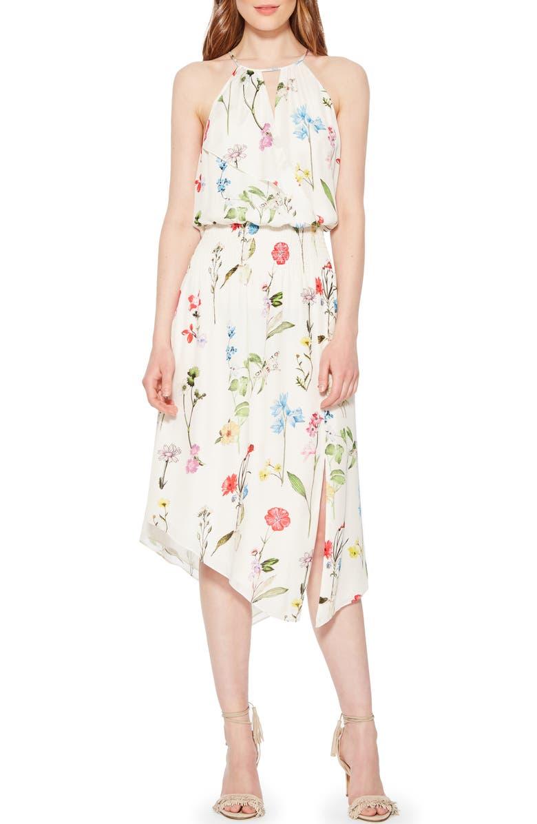 PARKER Herley Floral Silk Dress, Main, color, 336