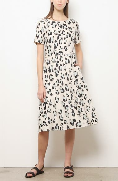 Amanda Spot Print Silk Dress, video thumbnail