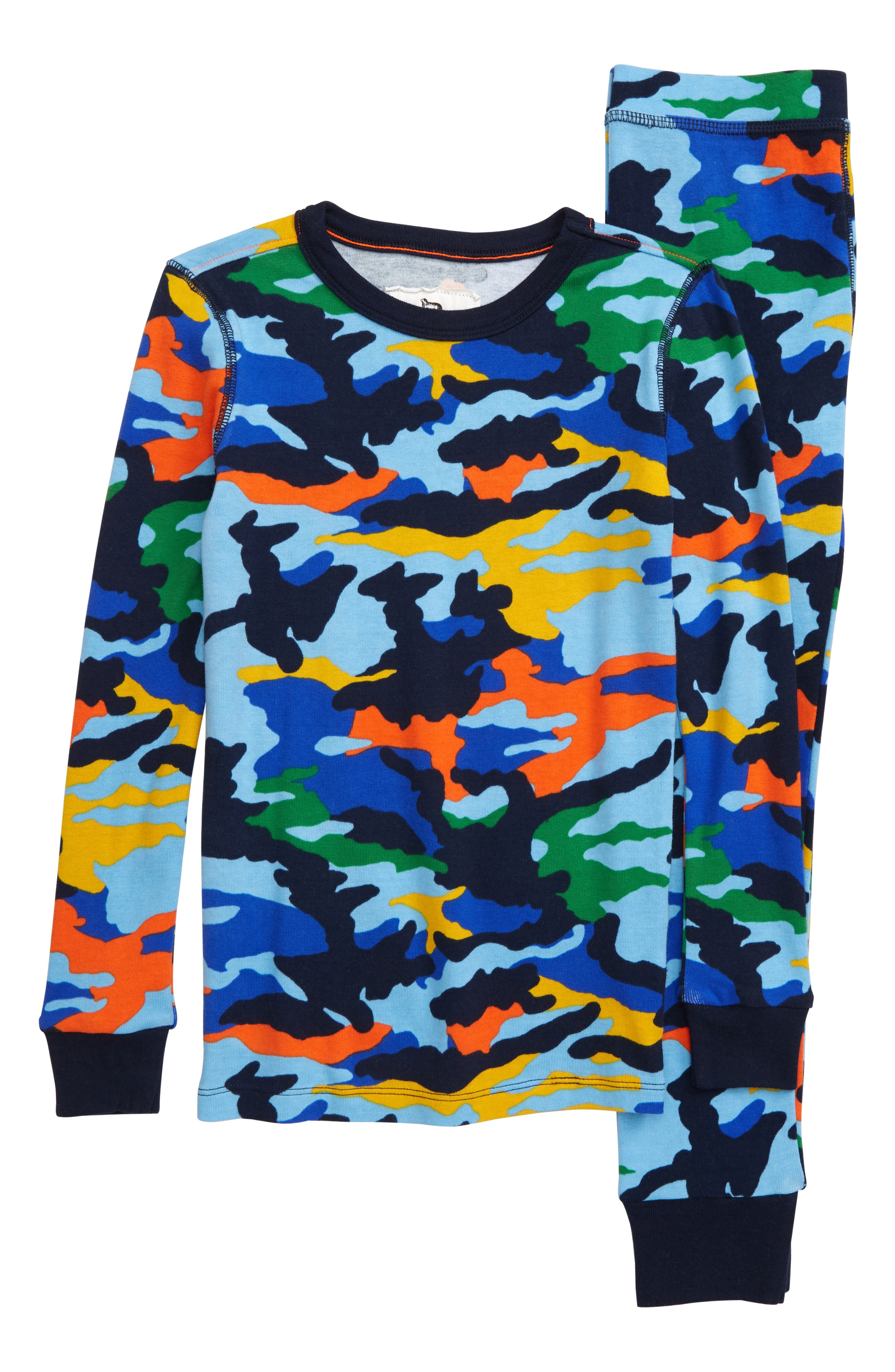Toddler Boys Crewcuts By Jcrew Flashy Camo Print Fitted TwoPiece Pajamas Size 2T  Blue
