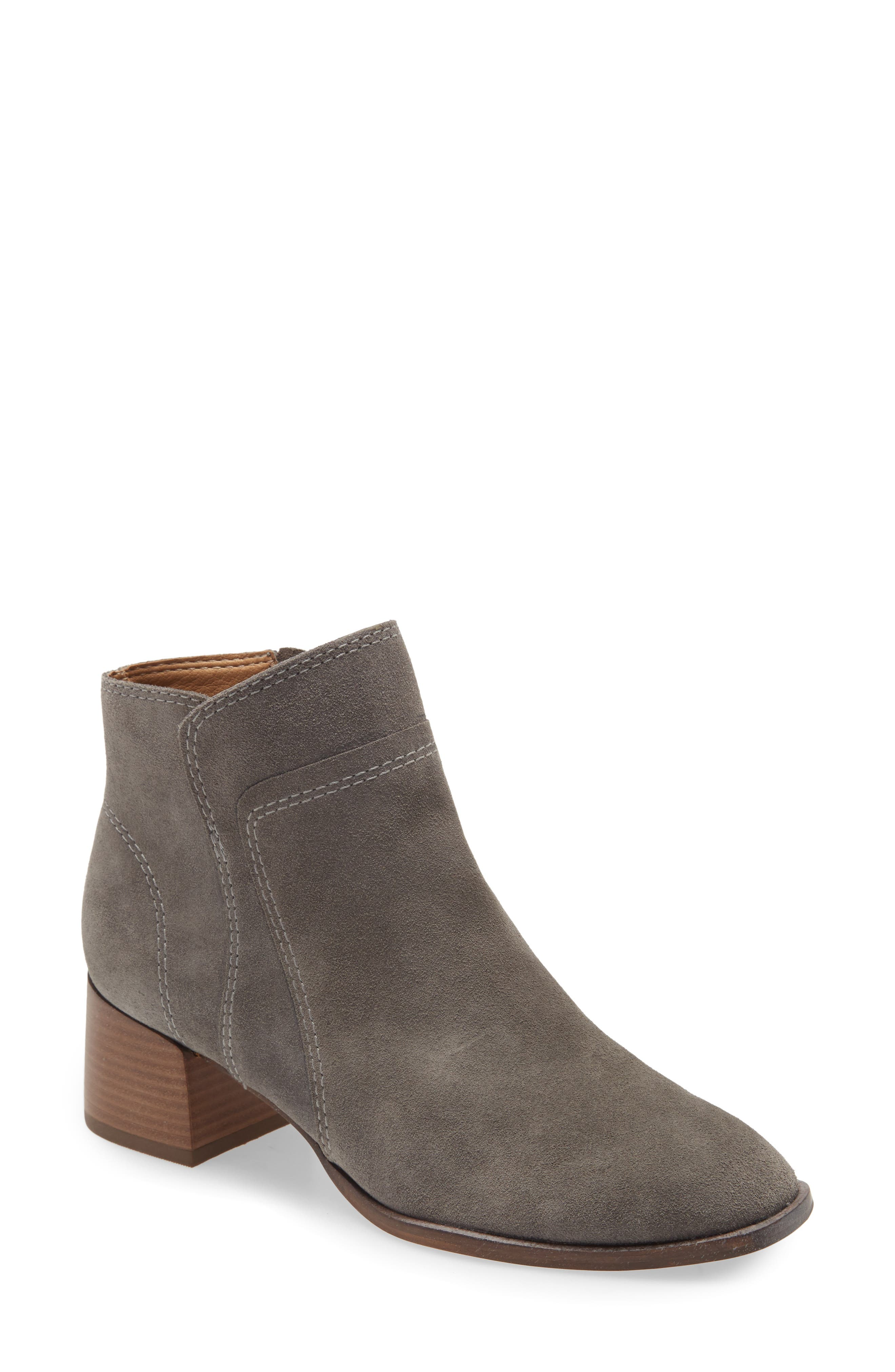 This buttery-soft suede bootie is classic and versatile, with a contrasting block heel for an elevated look and feel. Style Name: Lucky Brand Lilka Suede Bootie (Women). Style Number: 6059287. Available in stores.