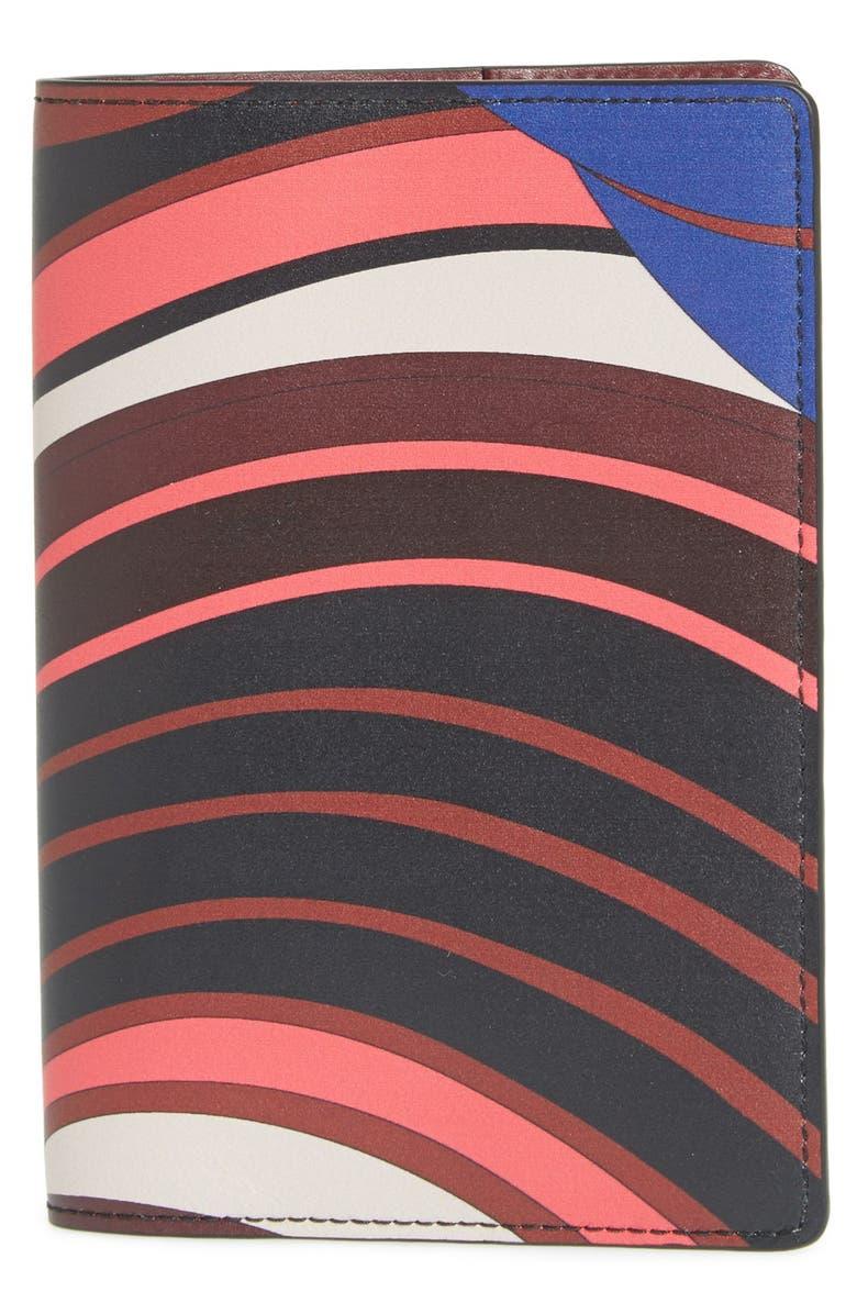 EMILIO PUCCI Passport Cover, Main, color, 001