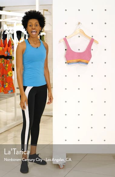 Clementine Rib Sports Bra, sales video thumbnail