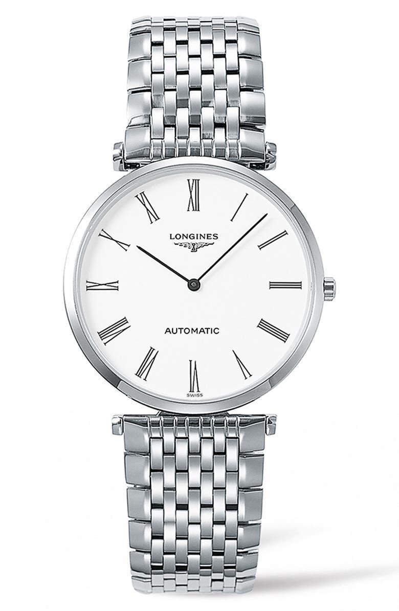 LONGINES La Grande Classique de Longines Automatic Bracelet Watch, 36mm, Main, color, 040