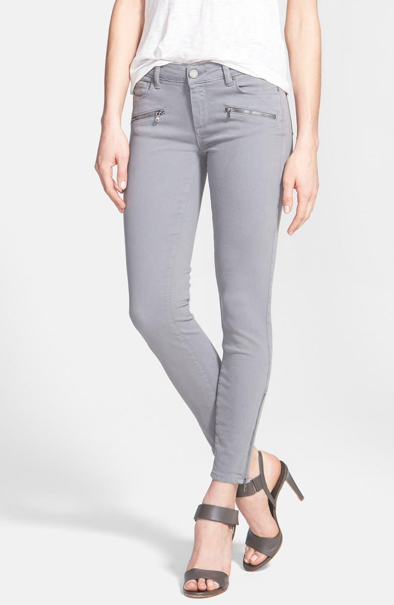 PAIGE Denim 'Jane' Zip Detail Ultra Skinny Jeans, Main, color, 020
