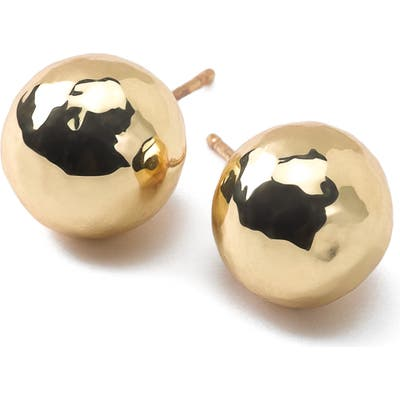 Ippolita Classico Hammered Ball Stud Earrings