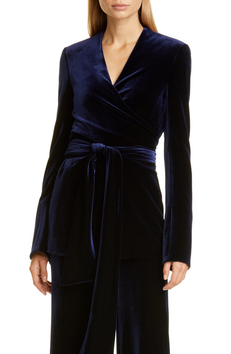 GALVAN Winter Sun Velvet Jacket, Main, color, MIDNIGHT