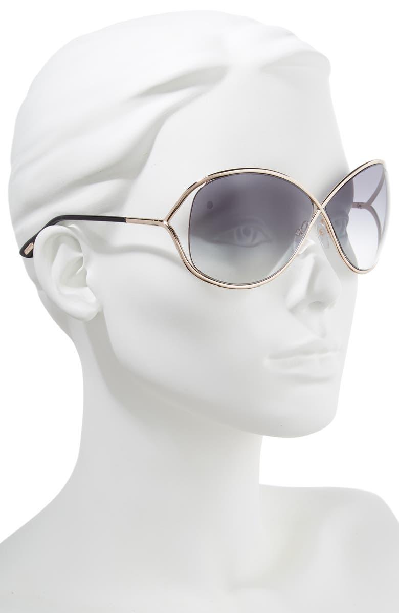 703e5b47a2 Tom Ford Miranda 68mm Open Temple Oversize Metal Sunglasses