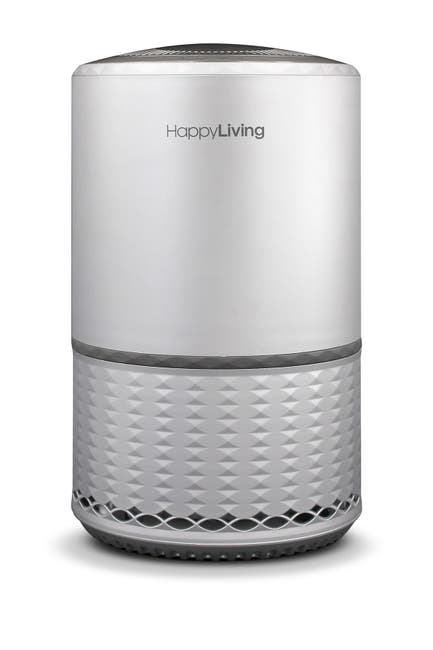Image of HAPPY LIVING HEPA 360-Degree 3-Stage Filtration Air Purifier - Silver