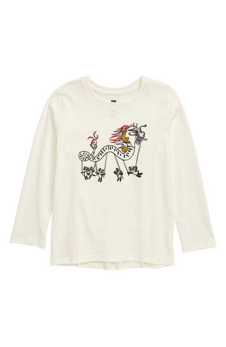 TEA COLLECTION Lucky Dragon Graphic Tee, Main, color, CHALK
