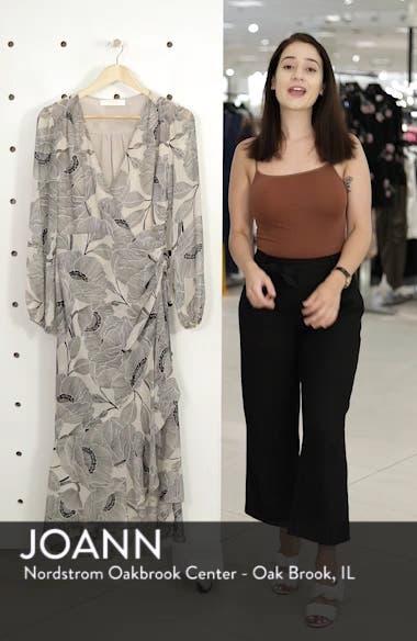Floral Print Faux Wrap Dress, sales video thumbnail