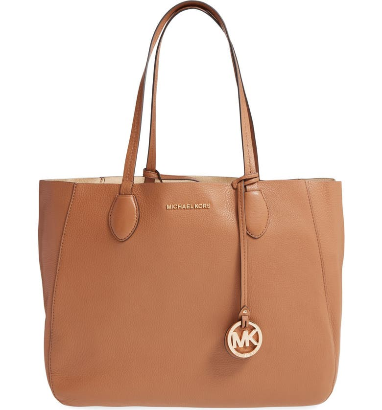 MICHAEL MICHAEL KORS 'Large Mae' Reversible Leather Tote, Main, color, 200