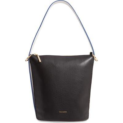 Ted Baker London Endora Leather Bucket Bag - Black