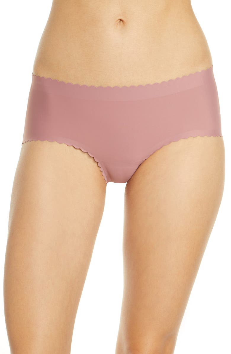KNIX Essential Scallop Boyshorts, Main, color, SWEET FIG