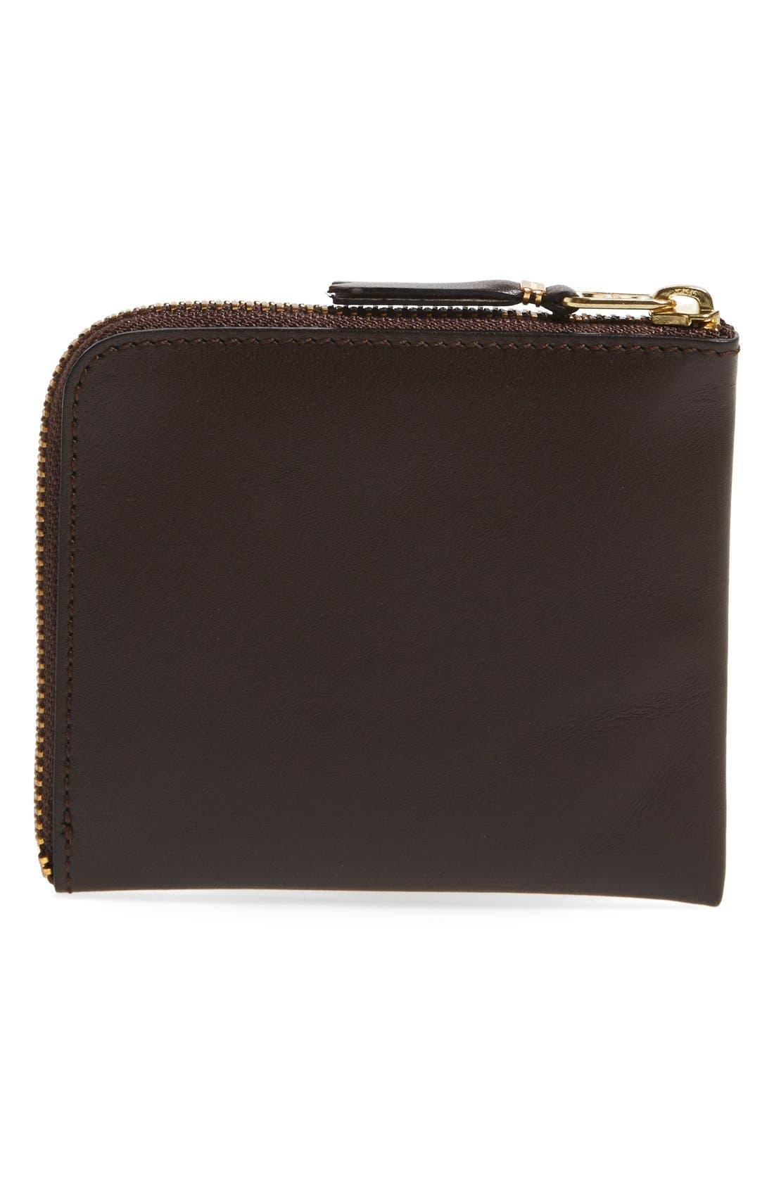 ,                             Half-Zip Leather Wallet,                             Alternate thumbnail 9, color,                             200