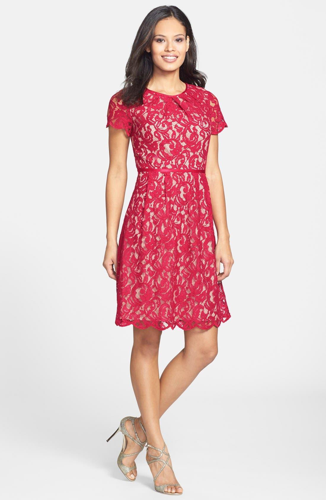 ,                             Scalloped Lace Dress,                             Alternate thumbnail 20, color,                             617