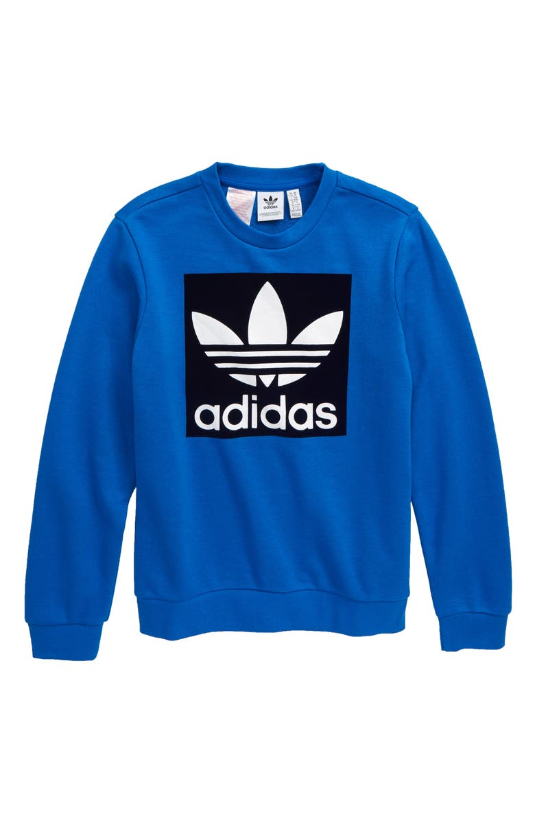ADIDAS ORIGINALS Trefoil Crewneck Sweatshirt, Main, color, 430