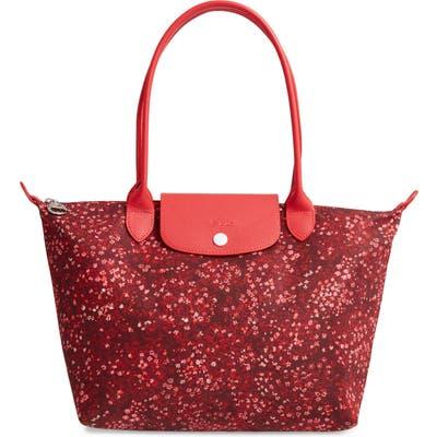 Longchamp Le Pliage Floral Print Shoulder Bag - Red
