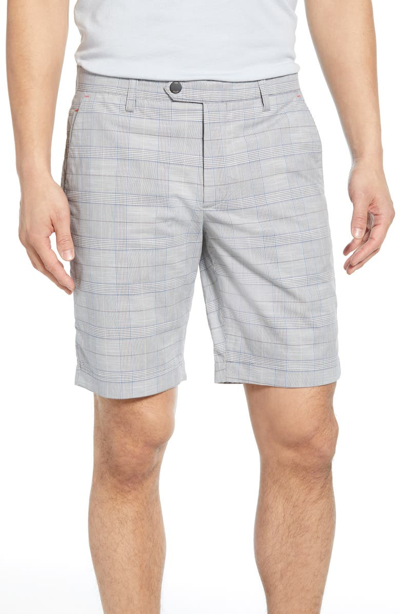 TED BAKER LONDON Easiee Slim Fit Check Golf Shorts, Main, color, 030