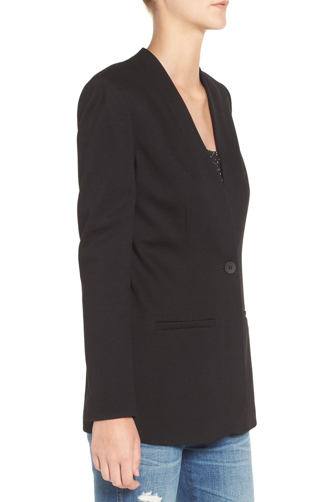 ,                             Tribune Blazer,                             Alternate thumbnail 3, color,                             TRUE BLACK