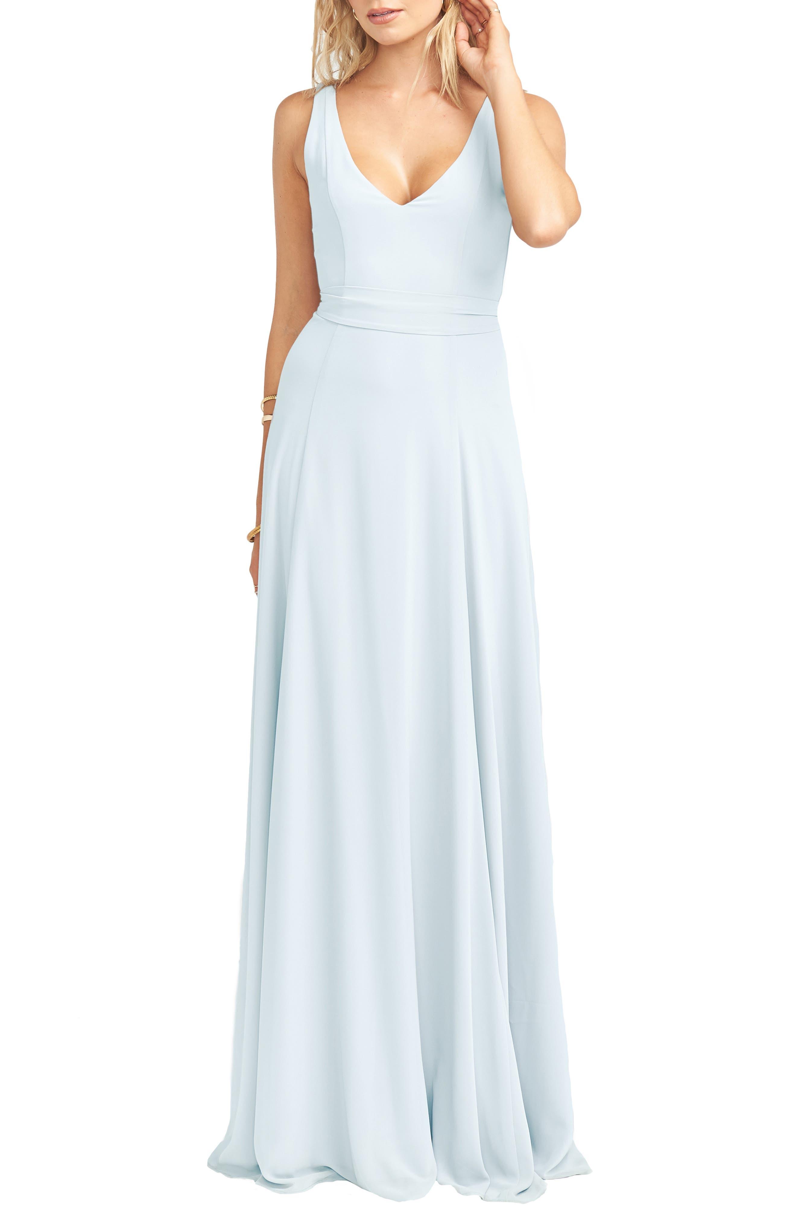Image of SHOW ME YOUR MUMU Jenn Tie Back Chiffon Gown
