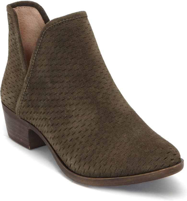 LUCKY BRAND Baley Bootie, Main, color, DARK OLIVE SUEDE