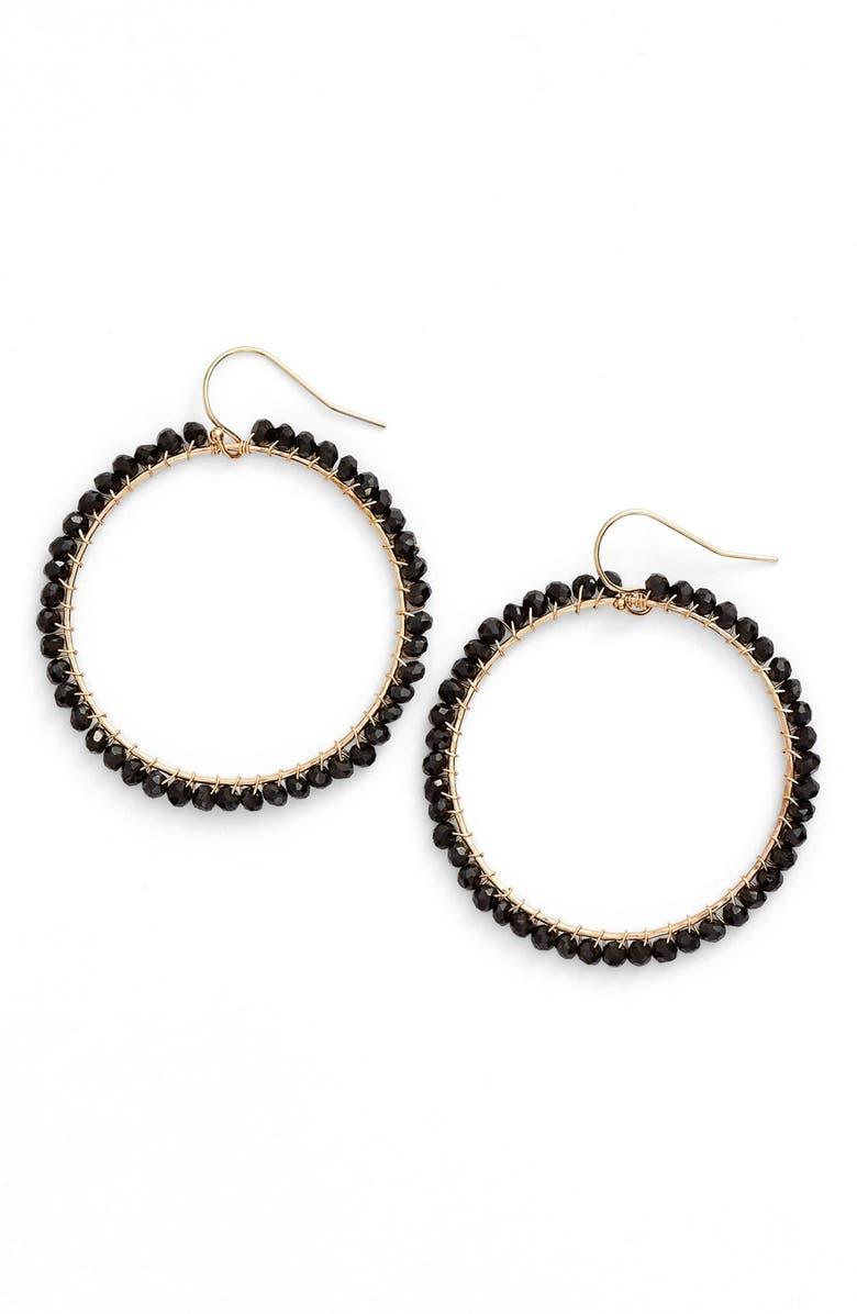 KI-ELE 'Lani' Front Hoop Earrings, Main, color, 001