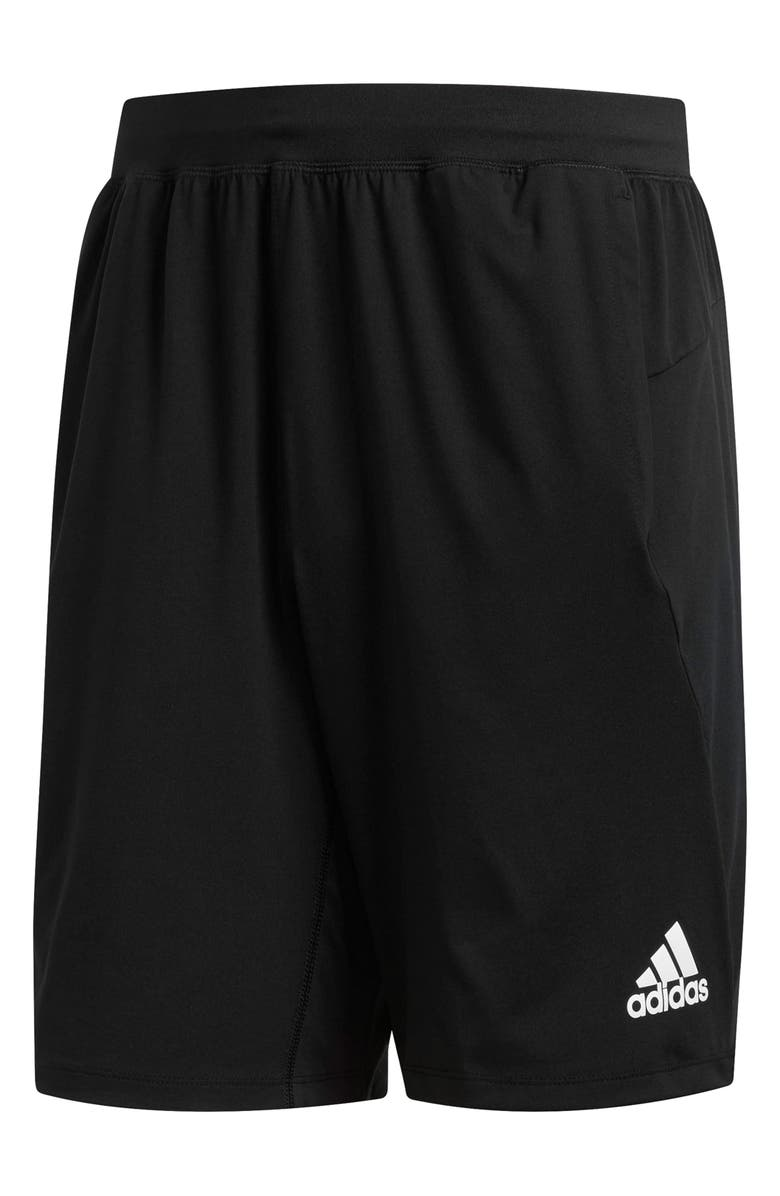 ADIDAS Ultimate Knit Athletic Shorts, Main, color, BLACK