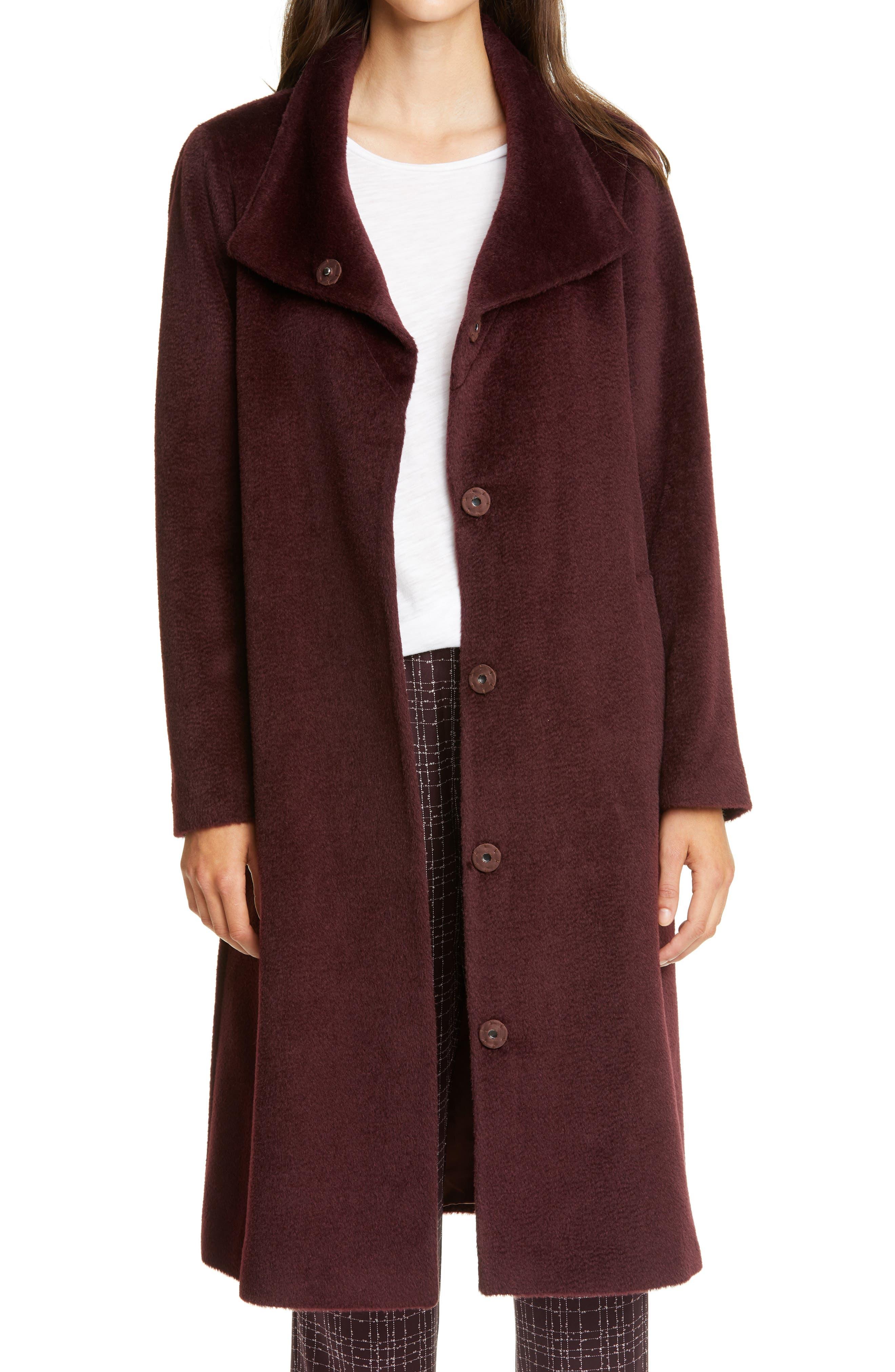 Image of Eileen Fisher High Collar Coat