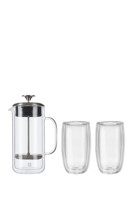 Image of JA Henckels International ZWILLING Sorrento Double Wall French Press and Latte Glass