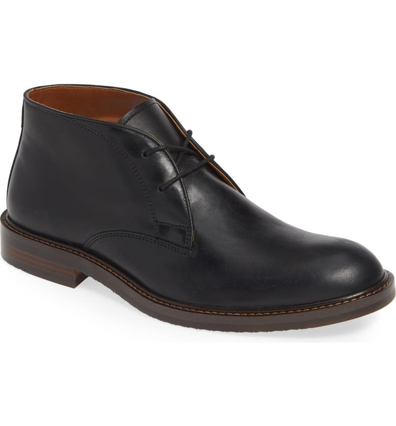 NORDSTROM MEN'S SHOP Alton Chukka Boot, Main, color, BLACK LEATHER