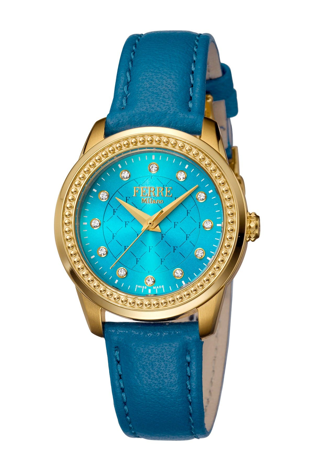 Image of Ferre Milano Women's Leather & Stainless Steel Watch, 32mm