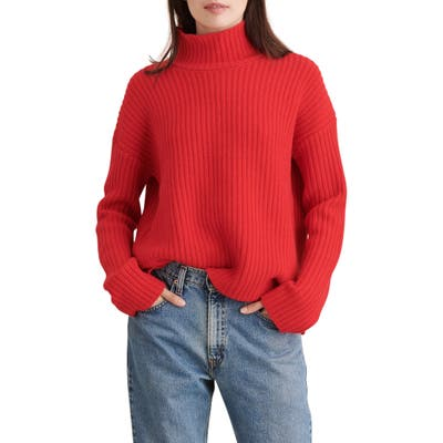 Alex Mill Seattle Merino Wool & Cashmere Sweater, Red