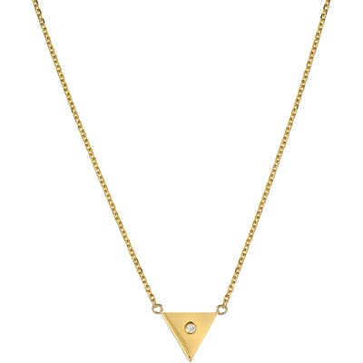 Mini Mini Jewels Forever Collection - Triangle Diamond Pendant Necklace