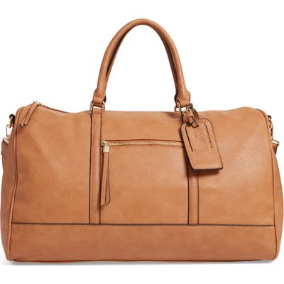 Sole Society Devon Faux Leather Weekend Duffle Bag - Brown