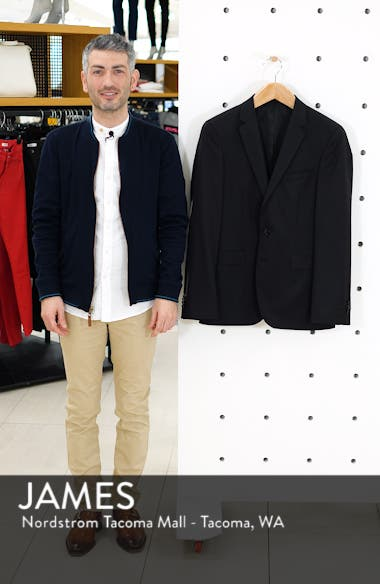 Ryan CYL Extra Slim Fit Solid Wool Blazer, sales video thumbnail