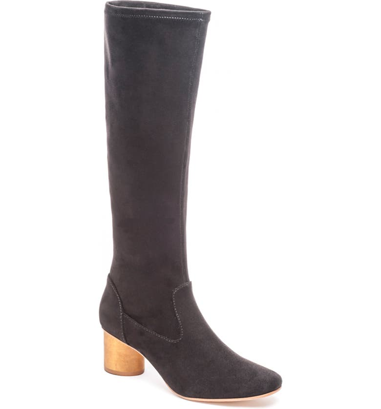 BERNARDO Knee High Boot, Main, color, BLACK LEATHER