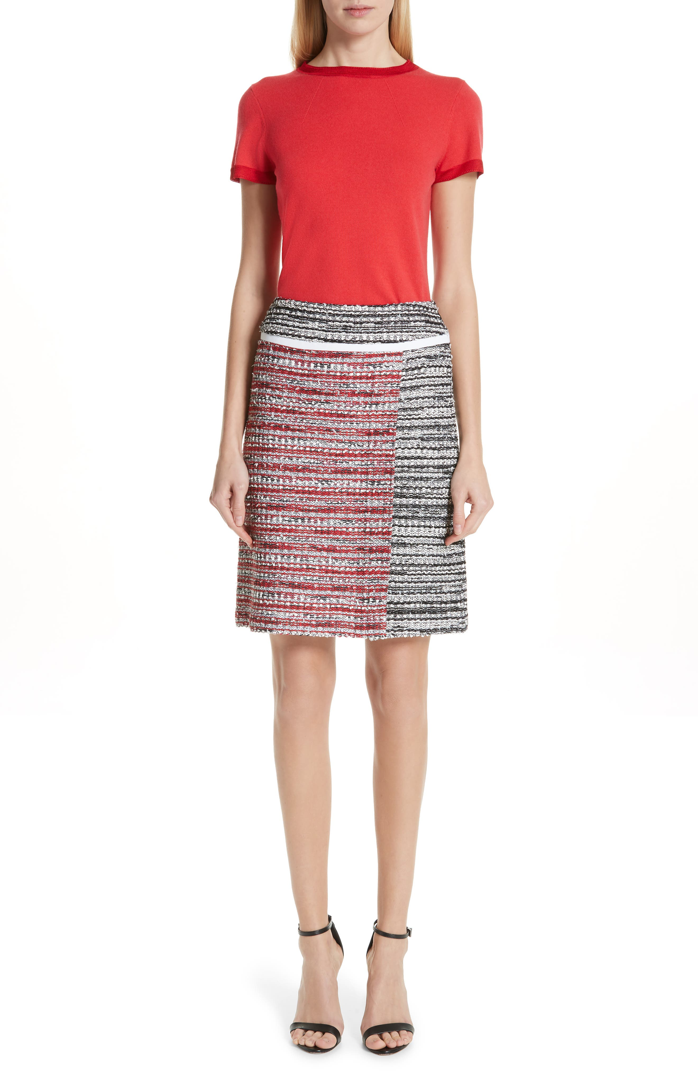 ,                             Amelia Knit Skirt,                             Alternate thumbnail 7, color,                             CAVIAR MULTI
