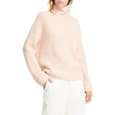 Vince Lofty Wool Blend Funnel Neck Sweater, Orange