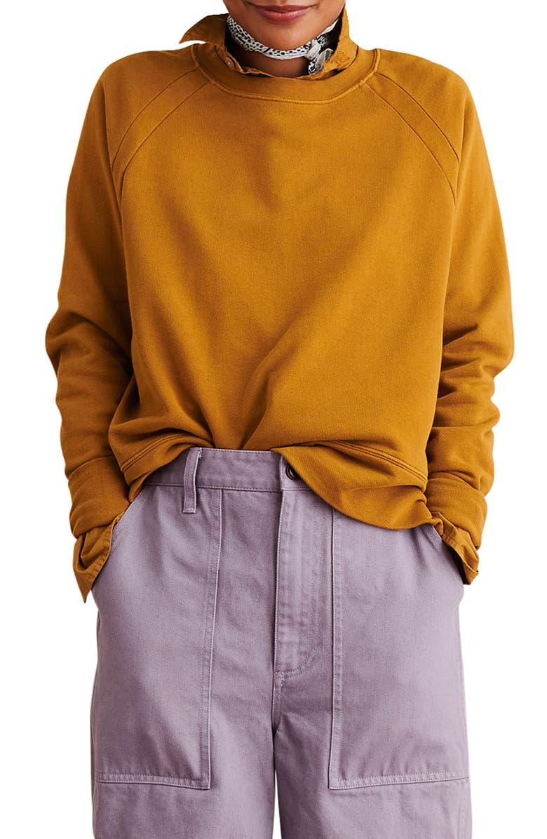 ALEX MILL Raglan Sleeve Sweatshirt, Main, color, 200