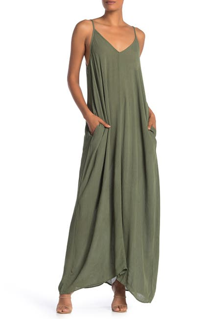 Image of Love Stitch V-Neck Sleeveless Maxi Dress