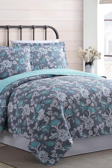 Image of Modern Threads Twin Agnes Reversible Quilt Set - Agnes