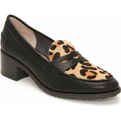 Me Too Darra Block Heel Loafer Pump- Black