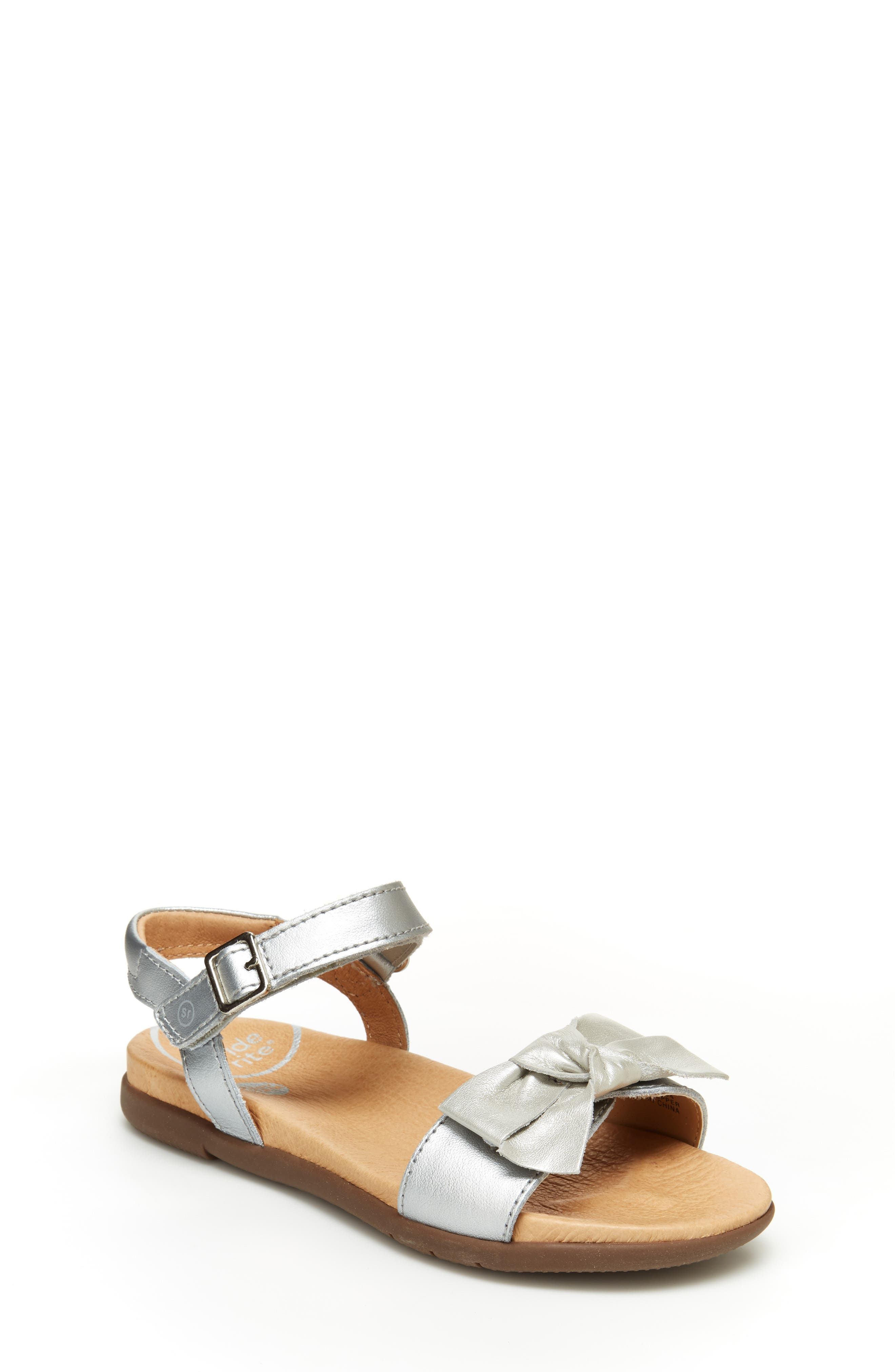 Girls Stride Rite Srtech(TM) Savannah Sandal Size 1 M  Metallic