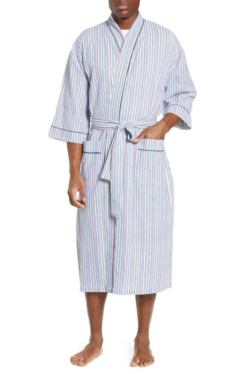 MAJESTIC INTERNATIONAL Sun Soaked Seersucker Robe, Main, color, ARUBA