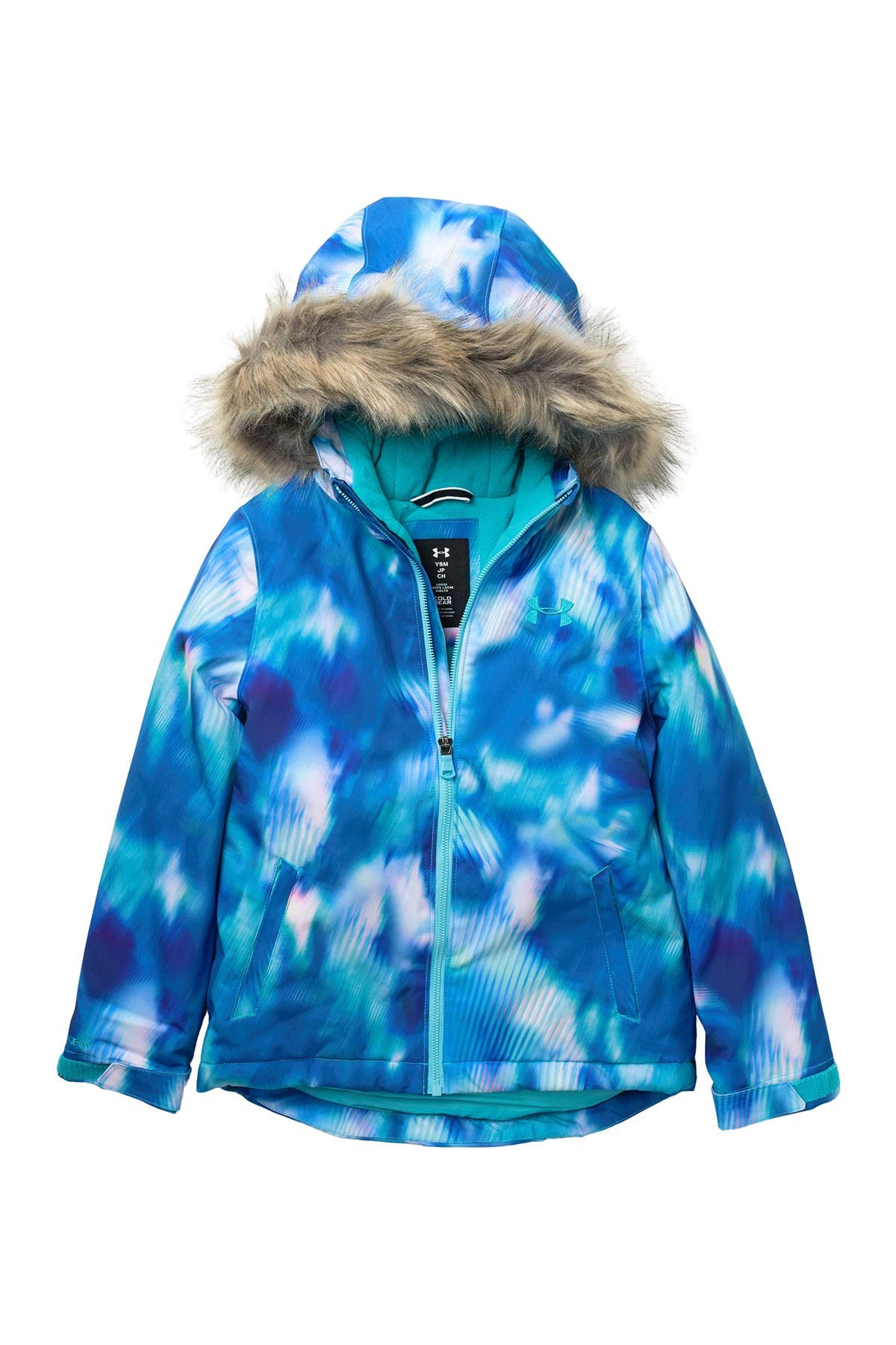 SMITHROAD Childrens Girls Winter Jacket with Faux Fur Tailored Long Jacket Winter Coat Parka Outerwear Winter